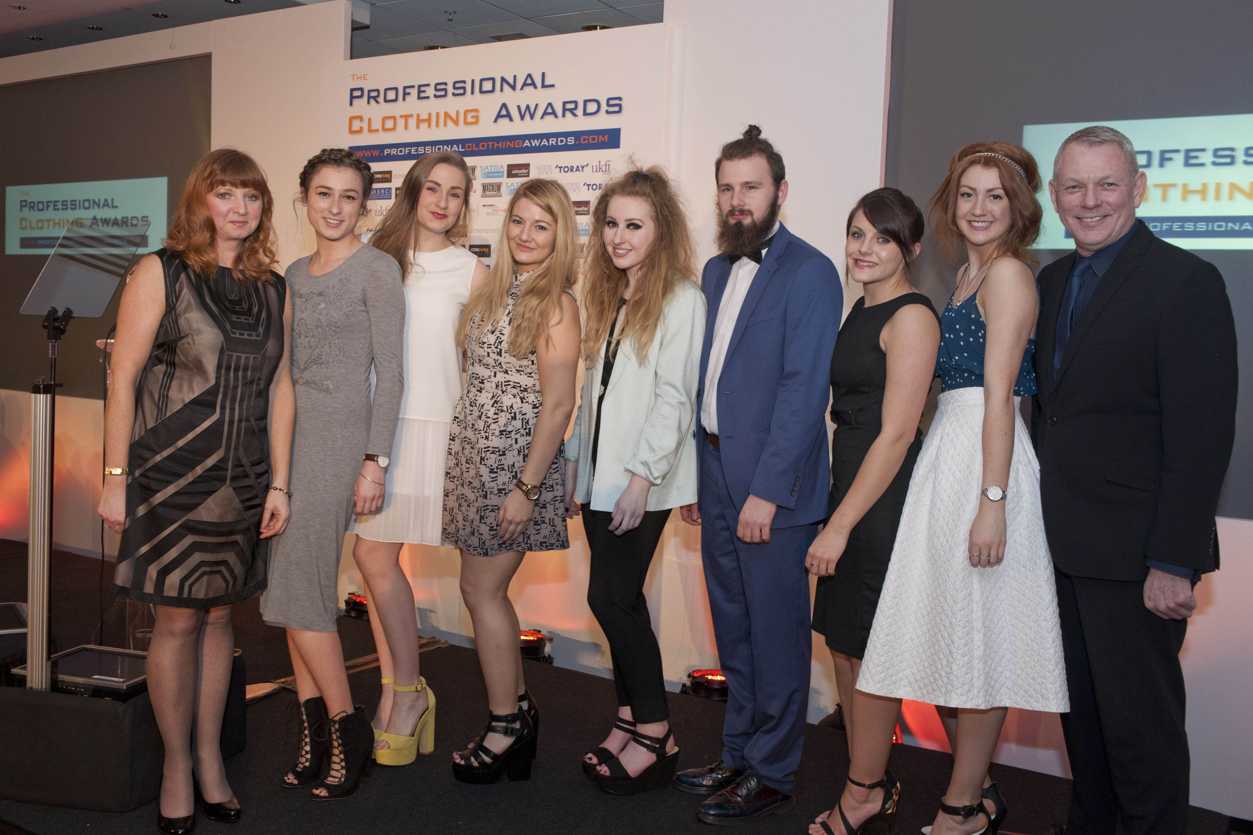 Student Design finalists at the Professional Clothing Awards 2014